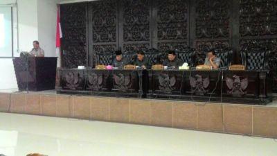 Rapat Paripurna DPRD, Pansus Menyampaikan Beberapa Rekomendasi